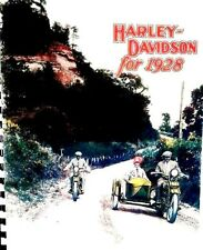 1928 Harley-Davidson Motorcycle & Sidecar Sales Brochure Showing All Models FSH