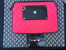 Knomo Pink & Black Quilted Case MacBook Sleeve *New*