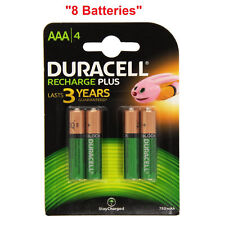 8x Duracell Plus AAA Triple A 750mAh Rechargeable Battery Batteries 81364750