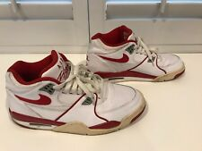 RARE🔥 Nike Air Flight '89 White Leather Varsity Red Retro Size 9.5