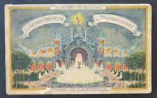 Calendrier 1900 LA GRANDE PARFUMERIE Expostion Universelle PARIS calendar