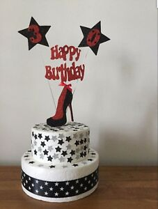 Cake Topper Decoration Stiletto Shoe High Heel 18th 21st 30th 40th 50th 60th