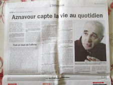 CHARLES AZNAVOUR CAPTE LA VIE AU QUOTIDIEN - INTERVIEW - 24/02/1999 -