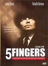 5 Fingers (1952) DVD (Sealed) ~ James Mason