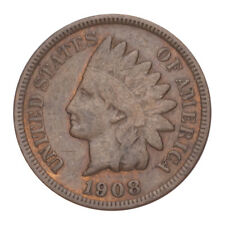 1908 P Indian Head Cent Penny  *F FINE*  **FREE SHIPPING**
