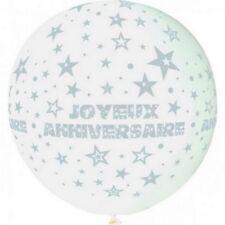 """Ballon géant blanc """"Joyeux anniversaire"""""""
