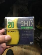 "Unused no open 20 Sony 2HD IBM Formatted 3.5"" Floppy Disks Double Sided New"