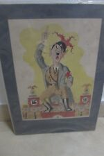 estate old 3 Hitleriada furiosa Colorful Illustrated Hitler as a May Day Fool