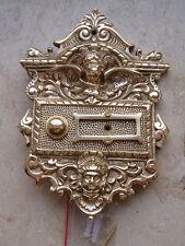 Messing Antikladl Klingel 1 Klingelschild Brass Door Bell  Tür Türklingel K2P