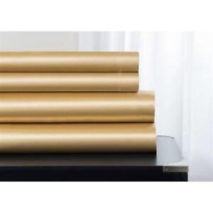 Baltic Linen 0361129200 Majestic Elegance Satin Sheet Set  Gold - King