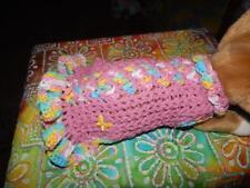 Small Dog Apparel SOFT SPRING RASPBERRY Dress/Sweater W/Ruffles