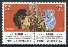 Peru 2013 Australien Koala Bären Flaggen Australia Bears 2609-10 Postfrisch MNH