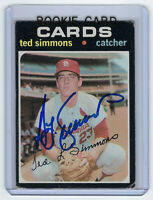 1971 CARDINALS Ted Simmons signed ROOKIE card Topps #117 AUTO RC HOFer St Louis