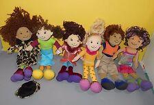 Lot Of 6 Groovy Girl Plush Dolls Boy Samuel - Sesilia - Larissa - Solana - Moxie