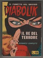 DIABOLIK prima serie N.1 IL RE DEL TERRORE edizione sodip 1964 con barzelletta