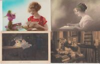 READING WRITING GREETINGS 72 Vintage Postcards mostly pre-1940