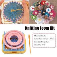 9x Knitting Loom Flower Daisy Pattern Maker Wool Yarn Needle Loom Sewing Tool~