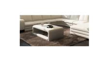 Design Moderne Table Basse Tableaux Salon Rembourré Cuir Articles en Stock Neuf