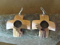 Navajo Indian Large Copper Zia Earrings by Douglas Etsitty!