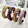 Women's Tie Hairband Headband Stripe Knot Colorful Hair Hoop Bands Accessories
