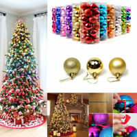 Christmas Balls Baubles Tree Hanging Ornament Wedding Party Decor 24pcs Glitter
