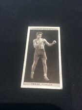 Frank Fowler 16 1928 Ogdens Boxing Cigarette card Boxer Pugilists in action