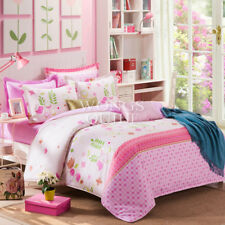 Cotton Floral Quilt Doona Duvet Covers Set Queen Size Bed Linen With Pillowcases