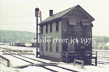 """Boston & Maine RR Yard Office White River Jct. Vt 1975 4x6"""" options available"""