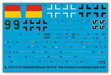 1/72 decals per una ta 152 VERDE 9 Willi Reschke JG 301 2472