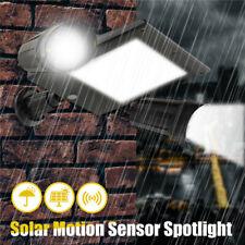 Solar Floodlight Dual Head 360° Rotatable 64LED Outdoor Motion Sensor Wall
