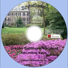 MD - Greater Baltimore 1981 Phone Book CD
