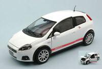 Model Car Fiat Large Punto Abarth Scale 1:24 White modellcar Static