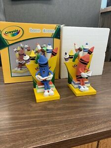 crayola limited edition rare book ends brand new!