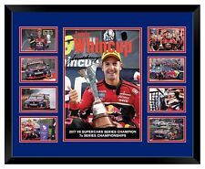 JAMIE WHINCUP 2017 V8 SUPERCARS SERIES CHAMPION SIGNED FRAMED MEMORABILIA