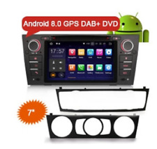"ES7867B 7"" Android 8.0 Car DVD 4G WiFi DAB+ GPS Nav BMW E90 Saloon Touring Coupe"