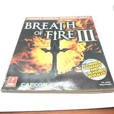 Breath of Fire 3 Prima Game Guide FREE DOMESTIC SHIPPING