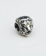 "Genuine Pandora Charm ""Lion Head"" with yellow/cirtrine Eyes 790443CZY retired"