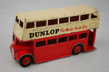 "Dinky 290 Double Decker Bus ""Dunlop"" Type 3 Leyland Grill 1959-61 4"" Long V Good"