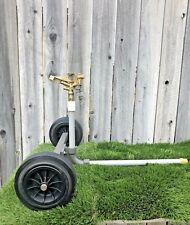 "Pasture Master Rolling Sprinkler Cart W/3/4"" Double Nozzle Adj Brass Impact"
