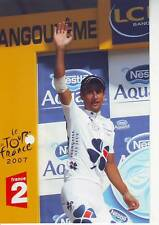 CYCLISME repro PHOTO SANDY CASAR podium a angouléme TOUR DE FRANCE 2007
