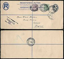 SOUTH AFRICA 1922 REGISTERED STATIONERY TARKASTAD to STAMP DEALER WINCH BROS GB