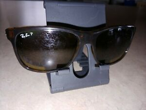 Ray Ban RB 4181 710/83 Square Havana Brown Polarized Sunglasses 57mm SCRATCHED