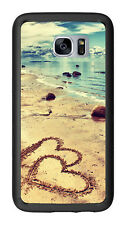 Beach With Hearts In The Sand For Samsung Galaxy S7 G930 Case Cover by Atomic Ma