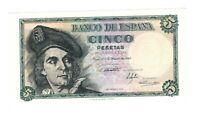 Vintage Banknote Spain UNC 1948 5 Pesetas Pick 136 US Seller