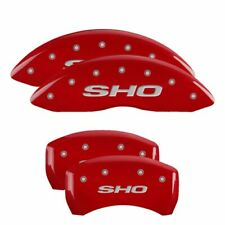 MGP Caliper Brake Covers for Ford 2013-2018 Taurus Red Paint 10222SSHORD