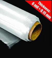 Greenhouse Plastic Cover Clear Poly Film 4 year 6mil / 0.15mm (12 ft. x 25 ft.)