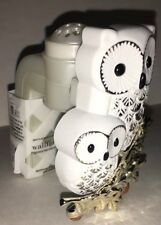 Bath & Body Works wallflowers refills white Gold silver 2 owls shiny sparkly new
