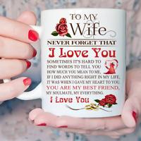 To My Wife Gift Mug - Never Forget That I Love You - Coffee Mug Tea Cup Gift
