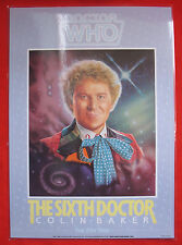 Rare: Andrew Skilleter Colin Baker poster, 30 x 40 cm, laminated. Doctor Who