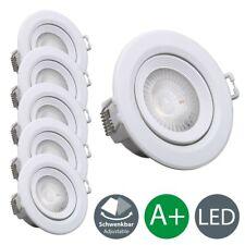 5er Set Einbauspots LED Einbau-Strahler 230V  Einbau-Leuchten Lampen ultra-flach